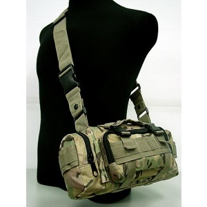 Molle Utility Shoulder Waist Pouch Bag Multi Camo