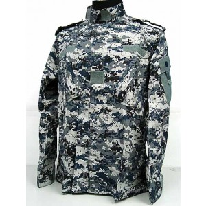 USMC BDU Uniform Set Shirt Pants Digital Blue Camo
