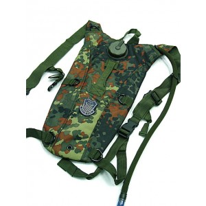 US Army 3L Hydration Water Backpack German Camo Woodland