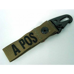 A POS Blood Type Identification Strap Tan