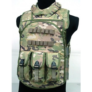 Airsoft Paintball Tactical Combat Assault Vest Multi Camo