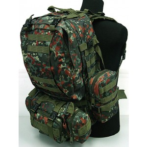 CamelPack Tactical Molle Assault Backpack German Woodland Camo