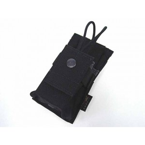 Flyye 1000D Molle Short Radio/Walkie Talkie Pouch Black