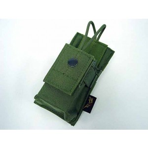 Flyye 1000D Molle Short Radio/Walkie Talkie Pouch OD