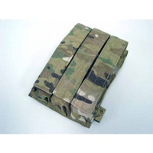 Flyye 1000D Molle Triple MP5 Magazine Pouch Multicam