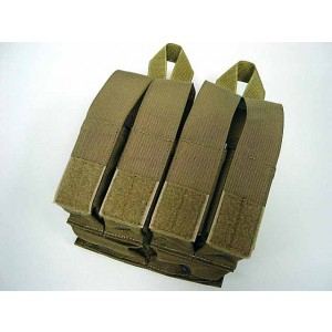 Flyye 1000D Molle Double M4 + Quad Pistol Mag Pouch Coyote Brown