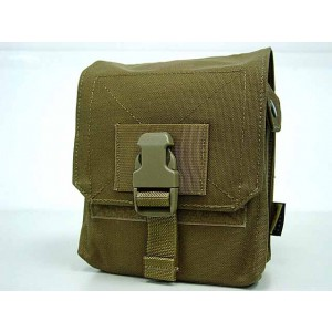Flyye 1000D Molle M60 100rds Ammo Magazine Pouch Coyote Brown