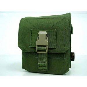 Flyye 1000D Molle M60 100rds Ammo Magazine Pouch OD