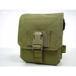 Flyye 1000D Molle M60 100rds Ammo Magazine Pouch Khaki