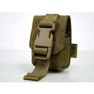 Flyye 1000D Molle Single Frag Grenade Pouch Coyote Brown