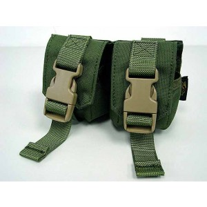 Flyye 1000D Molle Double Frag Grenade Pouch OD