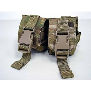 Flyye 1000D Molle Double Frag Grenade Pouch Multicam