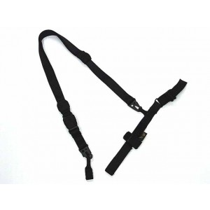 Flyye 1000D Airsoft 3-Point QD Rifle Sling Black