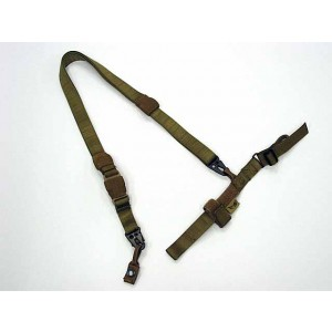 Flyye 1000D Airsoft 3-Point QD Rifle Sling Coyote Brown