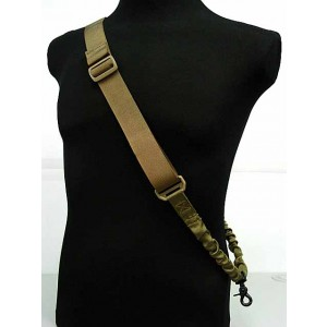 Flyye 1000D Elastic Bungee Hook CQB Rifle Sling Coyote Brown