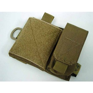 Flyye 1000D Molle SAF Admin Panel Map Pouch Coyote Brown