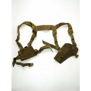 Flyye 1000D Shoulder Pistol Holster w/Mag Pouch Coyote Brown