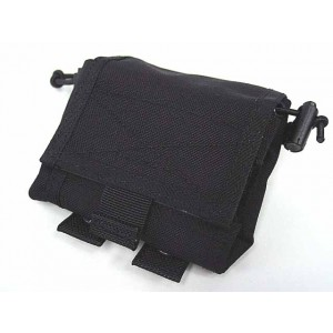 Flyye 1000D Molle Folding Magazine Drop Pouch Bag Black