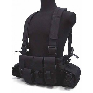 Flyye 1000D Tactical LBT 1961A Band Chest Rig Vest Black