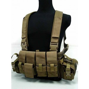 Flyye 1000D Tactical LBT 1961A Band Chest Rig Vest Coyote Brown
