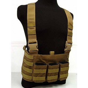 Flyye 1000D Molle LAW ENF Magazine Chest Rig Vest Coyote Brown
