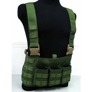 Flyye 1000D Molle LAW ENF Magazine Chest Rig Vest OD