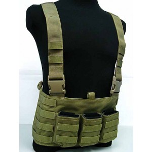 Flyye 1000D Molle LAW ENF Magazine Chest Rig Vest Khaki