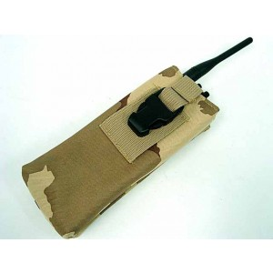 Molle Large Radio/Walkie Talkie Pouch Desert Camo