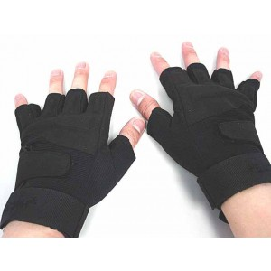 Special Operation Tactical Half Finger Assault Gloves Black