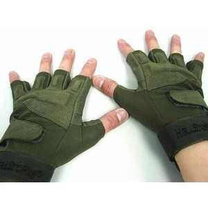 Special Operation Tactical Half Finger Assault Gloves OD