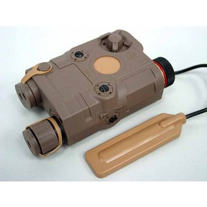 PRO&T AN/PEQ-15 Red Dot Laser & LED Flashlight Tan