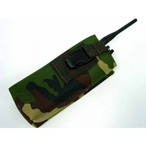 Molle Large Radio/Walkie Talkie Pouch Camo Woodland