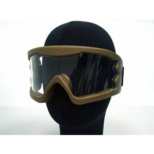 Airsoft X-Eye Wind Dust Tactical Goggle Glasses Tan