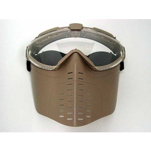 BATTLEAXE Pro-Goggle Full Face Mask with Fan Tan