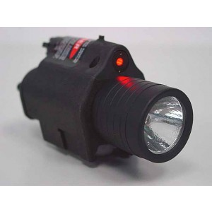 M6 6V 180Lm QD LED Tactical Flashlight & Red Laser Sight Black