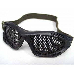 Airsoft Paintball No Fog Metal Mesh Goggle Glasses Black