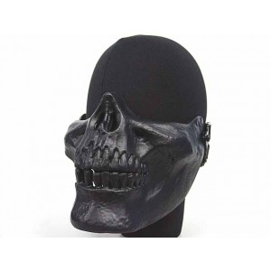 Airsoft Skull Skeleton Half Face Protector Mask Black