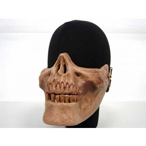 Airsoft Skull Skeleton Half Face Protector Mask Brown