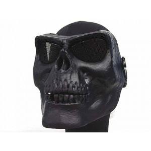 Airsoft Skull Skeleton Full Face Protector Mask Black