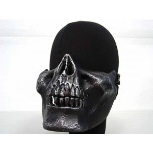 Airsoft Skull Skeleton Half Face Protector Mask Silver Black