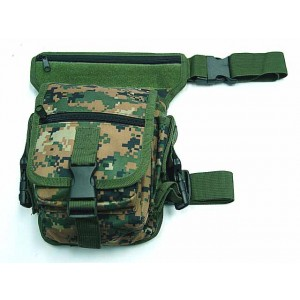 Drop Leg Utility Waist Pouch Carrier Bag Digital Camo Woodland