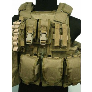 Molle 900D RAV Tactical Carrier Vest with 20 Pouch Coyote Brown