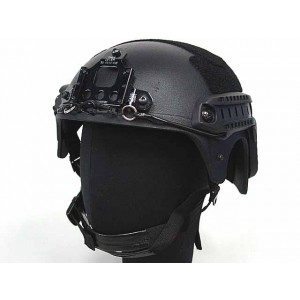 IBH Helmet with NVG Mount & Side Rail Black