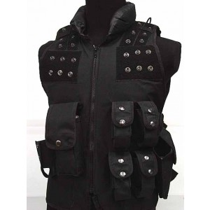Airsoft Wargame Combat Tactical Assault Vest Black #B