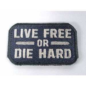 Live Free or Die Hard Velcro Patch ACU
