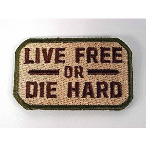 Live Free or Die Hard Velcro Patch Multi Camo