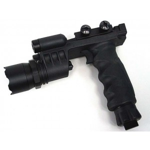 Tactical LED Weapon Light Foregrip Flashlight with Green Laser