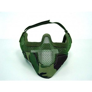 Black Bear Airsoft Stalker BAT Raider Mesh Mask Woodland Camo