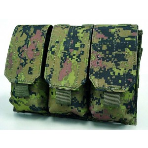 Airsoft Molle Triple Magazine Pouch CADPAT Digital Woodland Camo