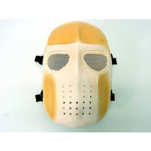 Full Face Ghost Recon Airsoft Mesh Goggle Mask Tan